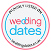 Proudly listed on Wedding Dates