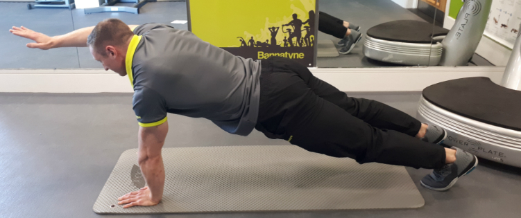 Plank with arm lift Exercise